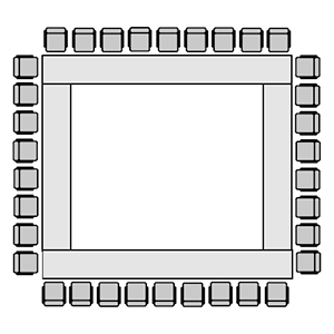 Square or Conference Room Layout